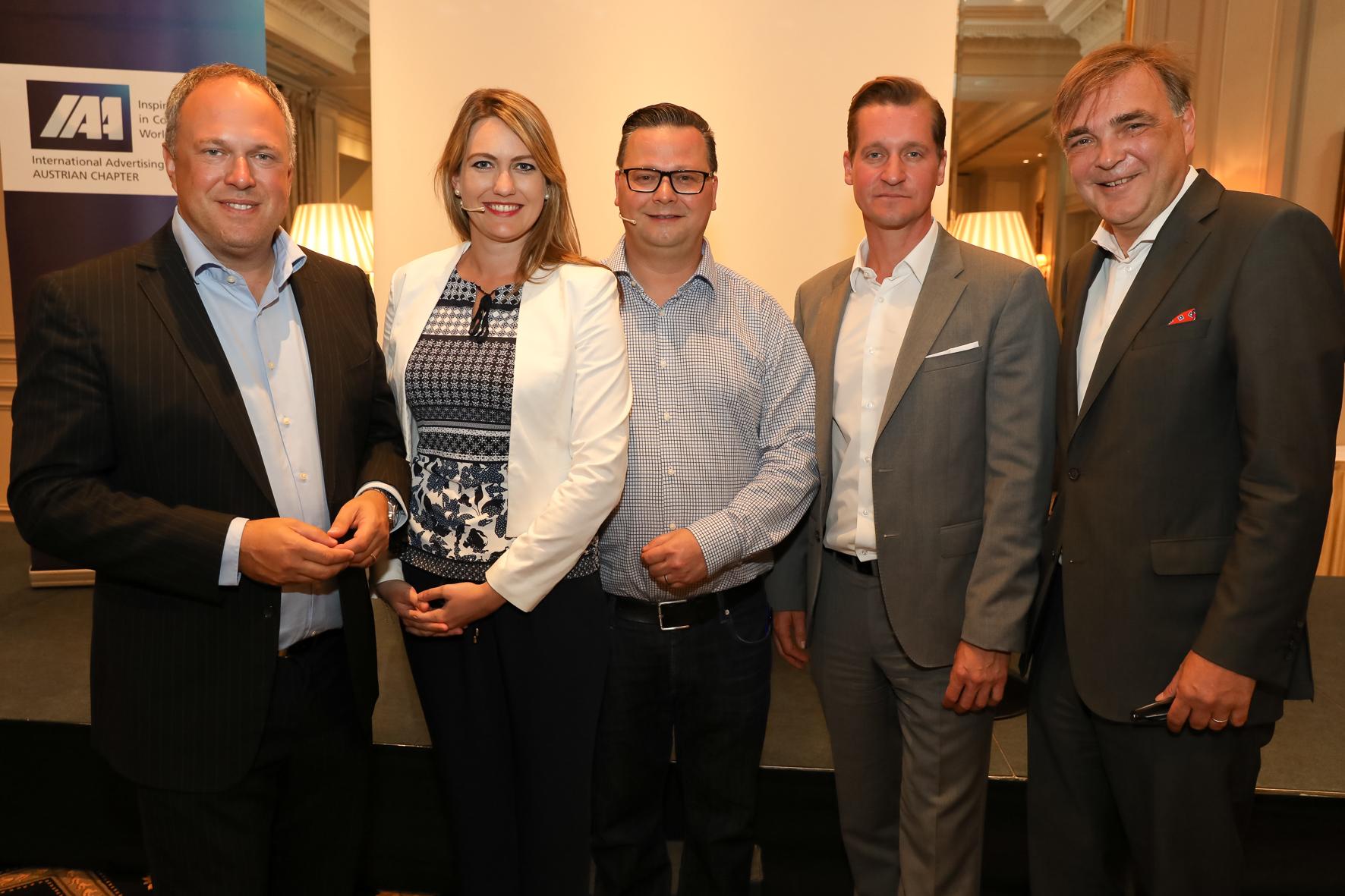 Foto von v.l.n.r.: Richard Grasl, Marlene Auer, Christopher Sima, Oliver Stribl, Gerald Ganzger
